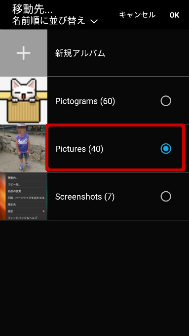 「Pictures」に移動しました。